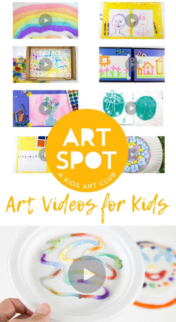 Art videos for kids help children learn new art activities (in this case, raised salt painting). They support busy families and different learning styles. #kidsart #artsandcrafts #kidspainting #kidsactivities #paintingforkids #paintingideas #paintingtechniques #artforkids