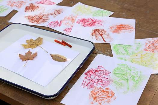 Fall Leaf Rubbings Activity for Kids
