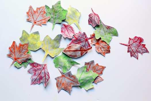 Fall Leaf Rubbings