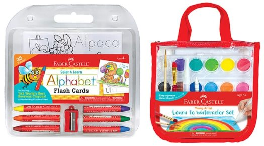 Faber Castell Color & Learn Alphabet Flash Cards & Faber Castell Young Artist Learn to Watercolor Set