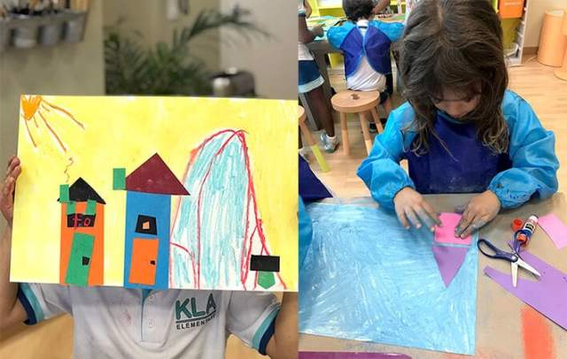 Paul Klee Art for Kids - Collaging Coloring Cities