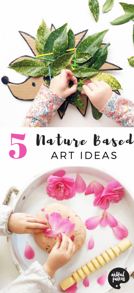 Rachael of Tiddler's Toolbox shares five nature based art ideas for young children. Paint with mud, print with leaves, create a nature weaving or petal playdough! #sensory #toddlers #preschoolers #artsandcrafts #kidsart #sensoryplay #sensoryactivities #sensoryactivity #playdough #creativehome