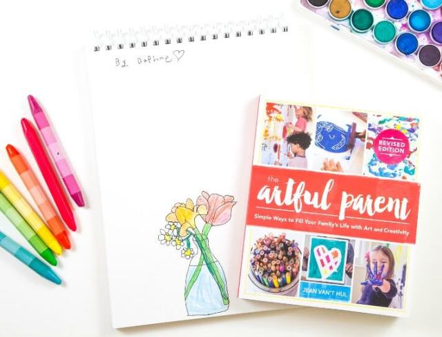 The New Artful Parent Book with Kids Drawing of a Flower Bouquet