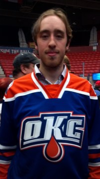 Olivier Roy in new OKC Barons 3rd jersey