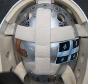 Olivier Roy 2012-13 Mask. Back Plate. (Photo: Patricia Teter. All Rights Reserved.)