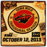 Iowa Wild opening night Rally Towel, tickets, magnetic season calendar, team booklet and schedules. (Photo: Patricia Teter. All Rights Reserved.)