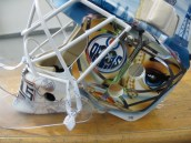 Tyler Bunz mask, left side (Photo Patricia Teter, All Rights Reserved)