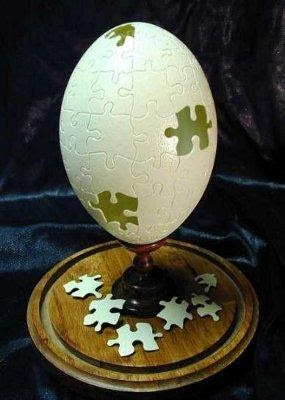 """Jigsaw"" by Gary LeMaster © Gary LeMaster and The Eggshell Sculptor, LLC"