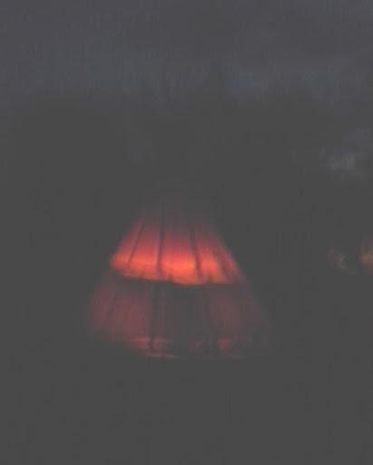 Tipi at night at Whitehall Pow Wow