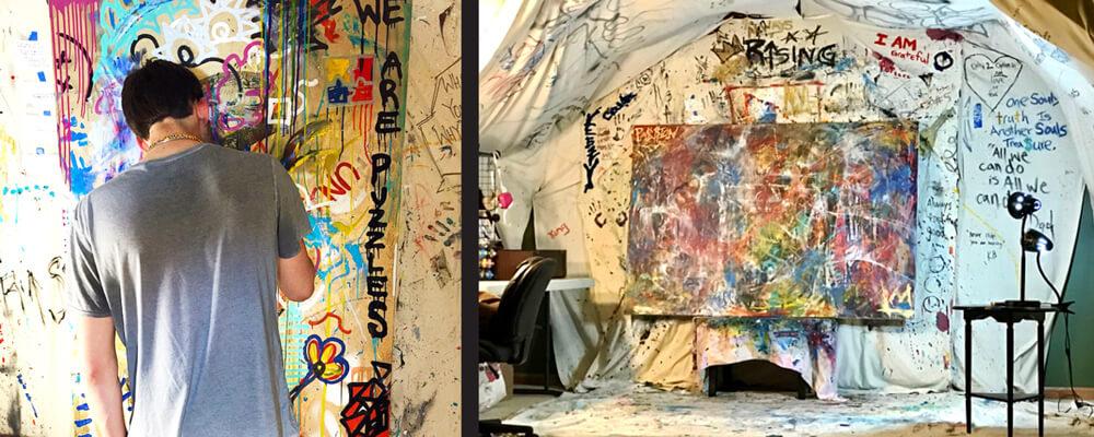 Justin Hammer Minneapolis St.Thomas Artist Studio