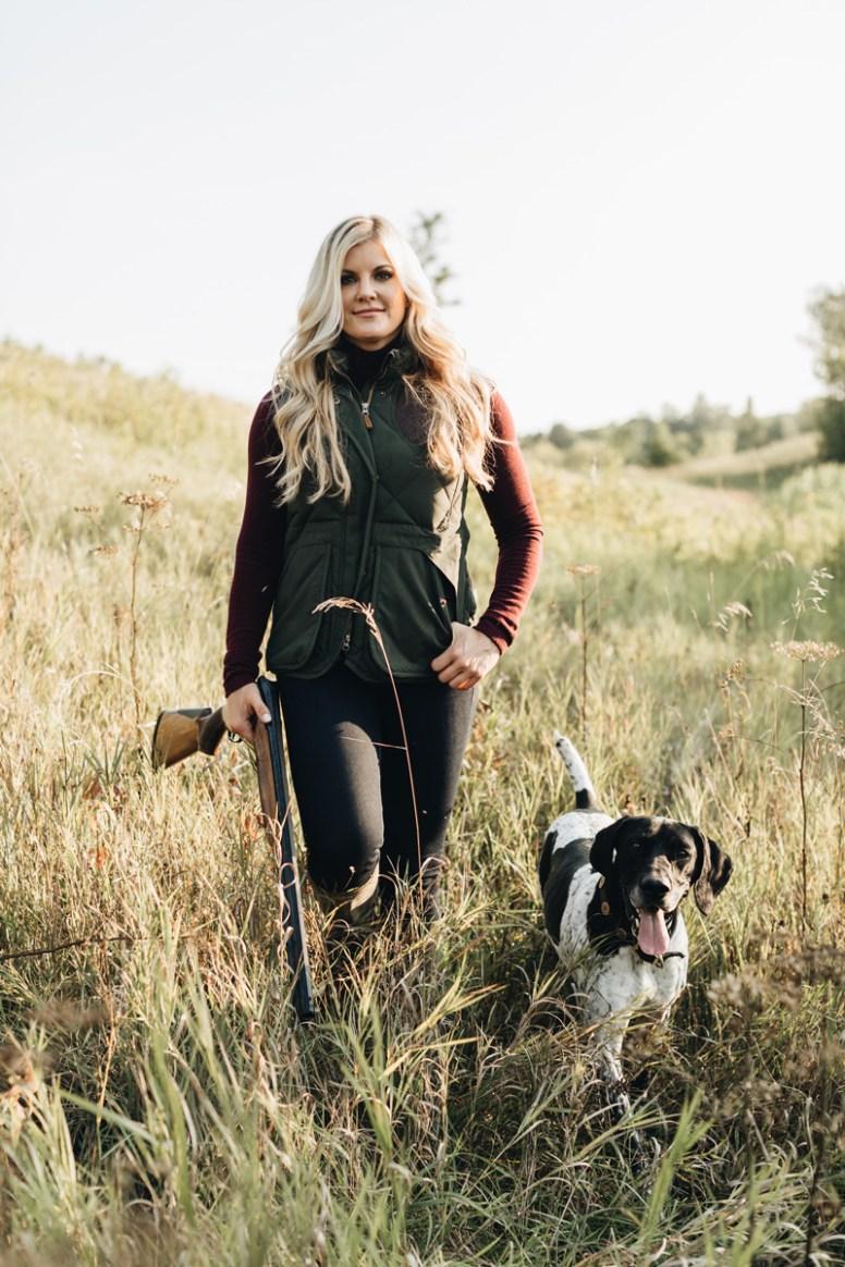 Laura Schara hunting rifle dog vest