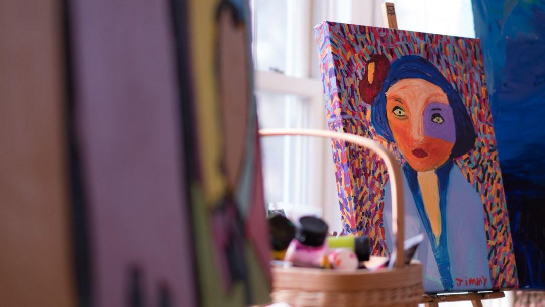 minnesota artist jimmy reagan studio and painting