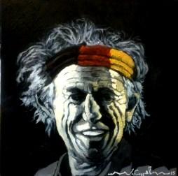Keith Richards ( 17) 40 x 40 2015