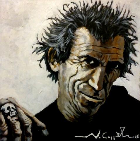 Keith Richards (3) 40 x 40 2015.