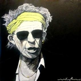 Keith Richards (30) 50 x 50 2015