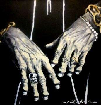 Las manos de Keith Richards (10) 50 x 50 2015