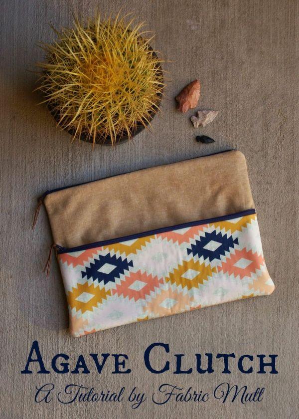 Agave Clutch Tutorial - Art Fabrics Creative