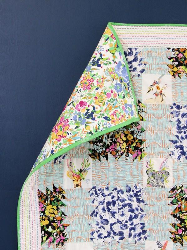 Whimsical Indigo & Aster Fabric Collection - Art