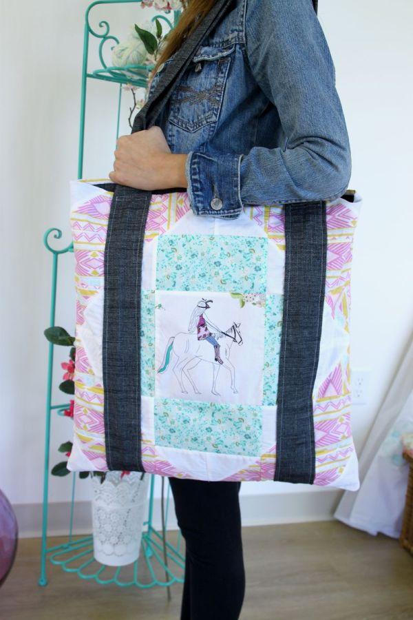 Anna Elise Fabrics Sunset Ride Tote Bag Tutorial - Art