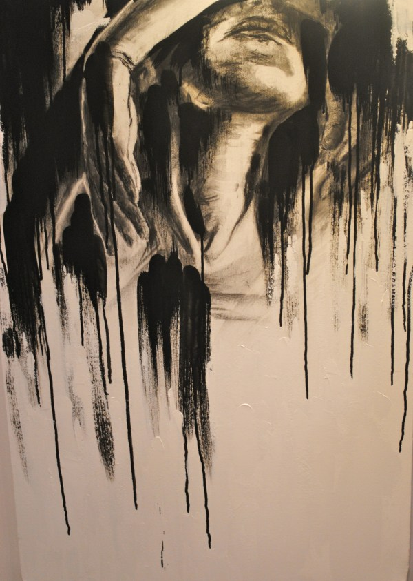 Charcoal Art On Canvas