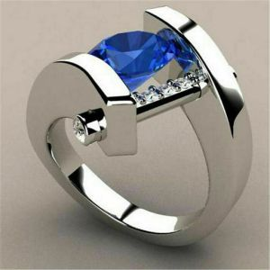 Ring – Sterling Silver and Blue Sapphire