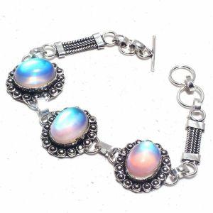 Fire Topaz Silver Bracelet