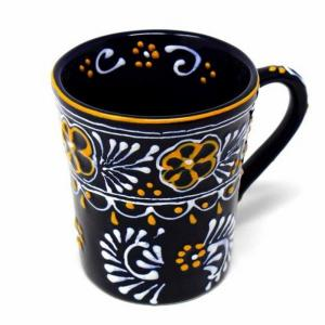 Flared Blue Pottery Mug