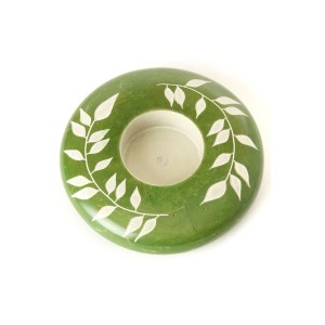 Soapstone Candle Holder – Green