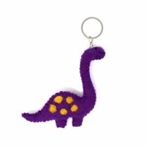 Felt Key Chain – Brontosaurus