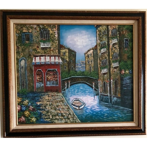 Canal Oil Painting