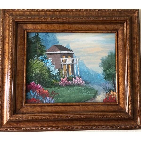 Gazebo Oil Painting
