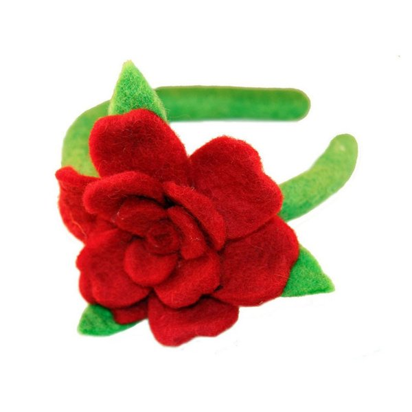 Felt Headband - Rose