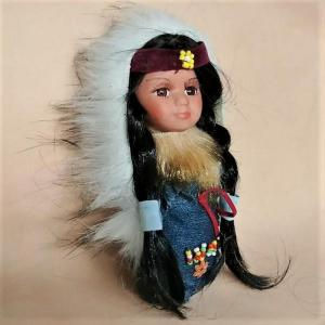 Blue Moccasin Doll