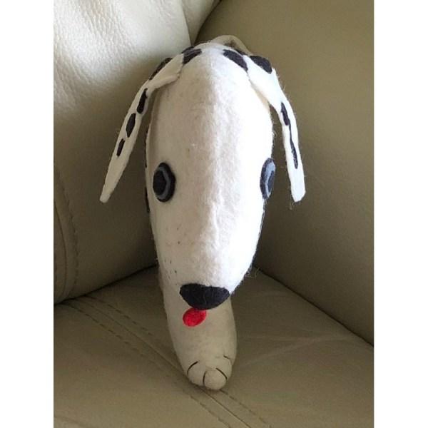 Felt Throw Pillow - Dalmatian Dog