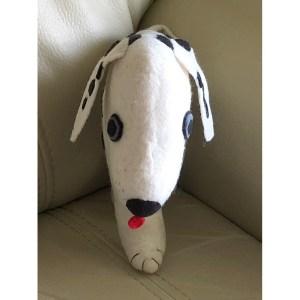 Felt Throw Pillow – Dalmatian Dog