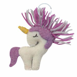 Felt Key Chain – Purple Unicorn