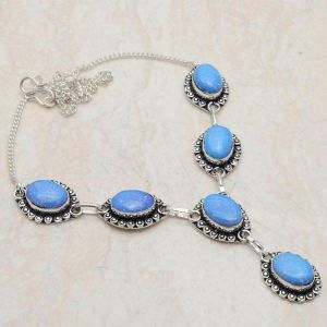 Necklace – Sterling Silver with Fire Opal Stones