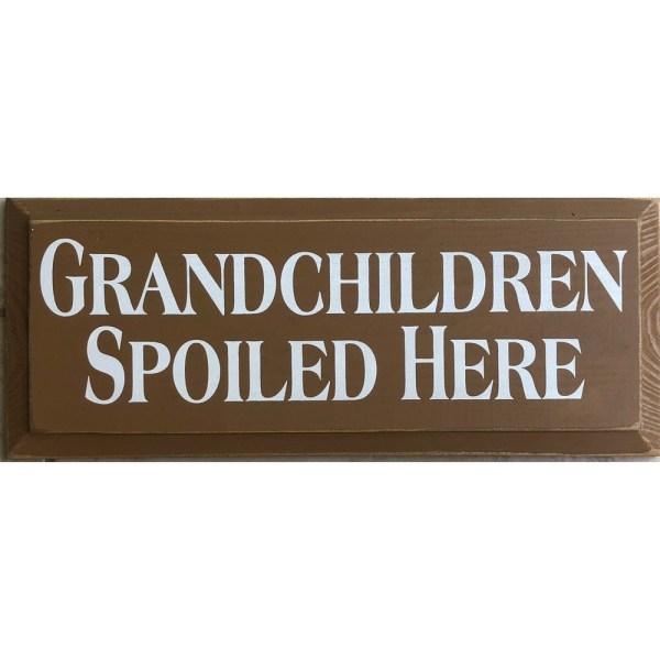 Wood Tile - Grandchildren Spoiled Here
