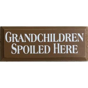 Wood Rustic Tile – Grandchildren Spoiled Here