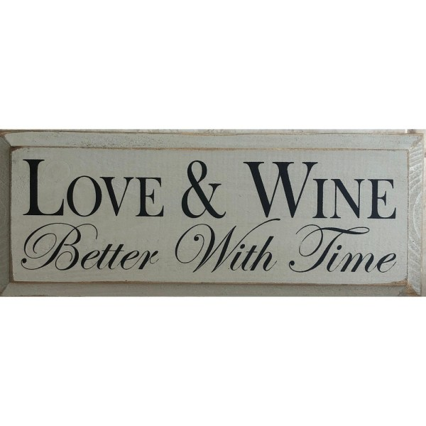 Wood Tile - Love & Wine