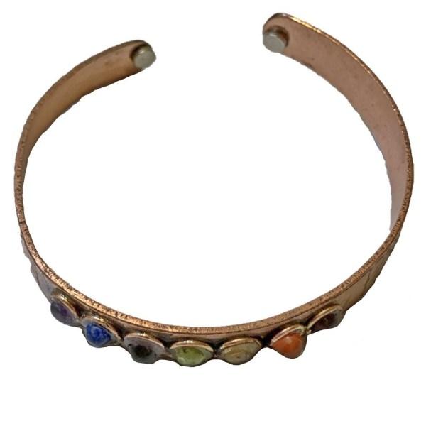 Copper Therapeutic Chakra Bracelet