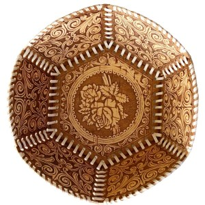 Birch Bark Decorative Plate – Flowery