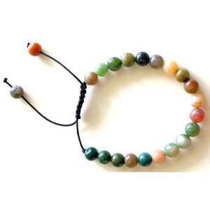 Agate Beads Braided Bracelet