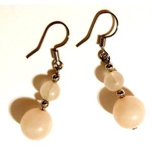 Small Rose Quartz Dangle Earrings