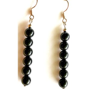 Black Agate Dangle Earrings
