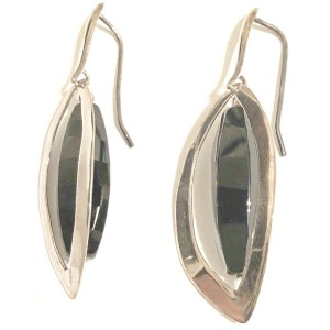 Earrings – Sterling Silver with Onyx