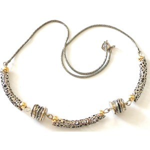 Gold and Sterling Silver Necklace