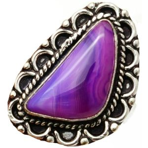 Ring – Sterling Silver with Botswana Agate