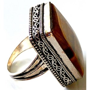 Ring – Sterling Silver with Tiger Eye Stone