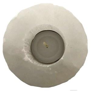 Selenite Crystal Candle Holder
